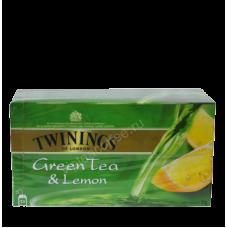 Твайнингс чай Зеленый с лимоном 25 пак